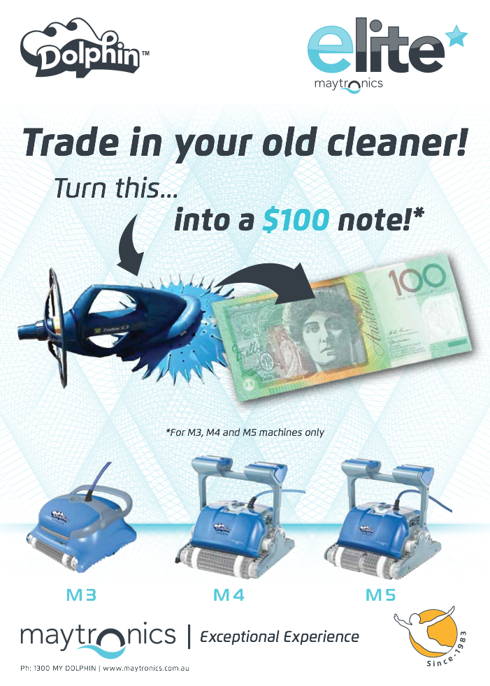 Save $100.00 on a new robotic pool cleaner.