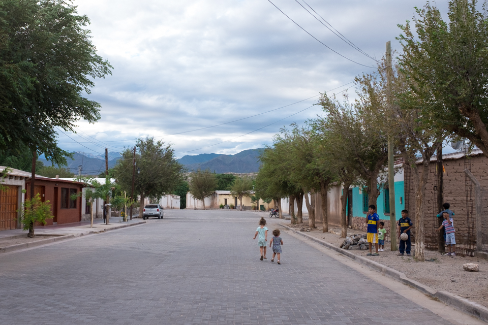 Downtown Molinos, population 900.