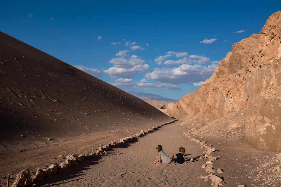An endless supply of sand at Valle de la Luna