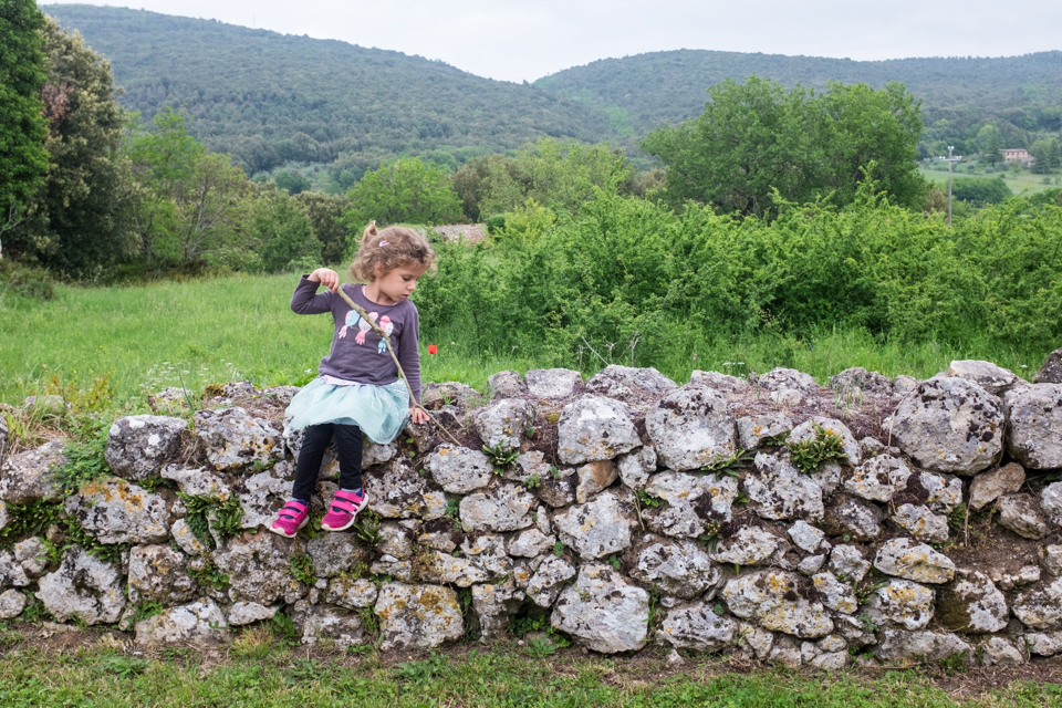 When she's not climbing trees she's climbing walls  |  Simignano