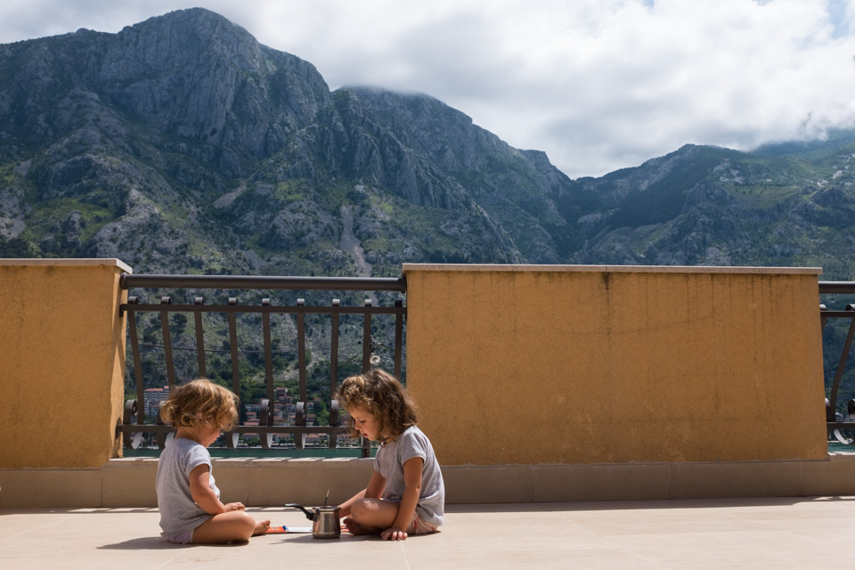 Morning painting with a view  |  Kotor