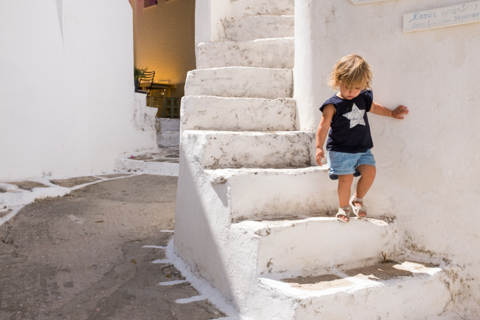 Stairs and side streets on Kythnos