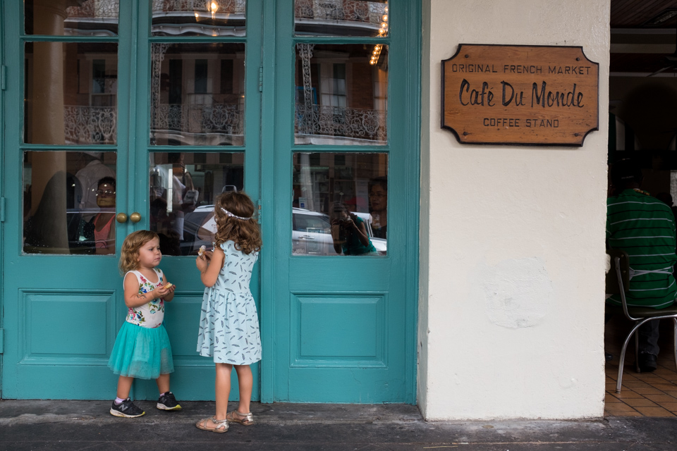 Our first beignets