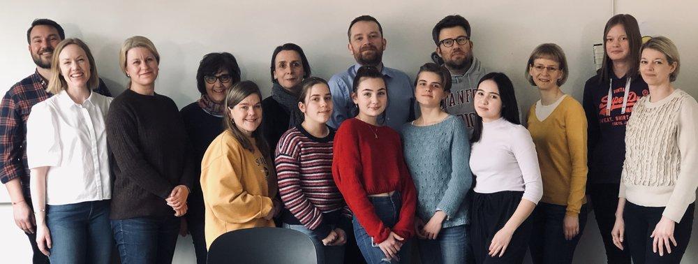 Skolemiljøutvalget 2018/19. Representanter fra styret, skoleledelsen, foreldrene, AKS, lærerne og elevene. Ikke tilstede: Rektor Ursula Hohenstein.