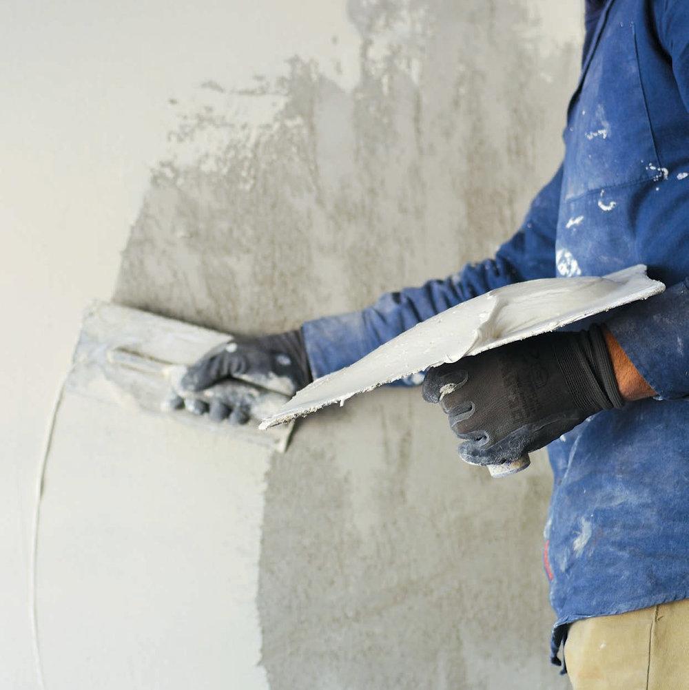 Plastering -