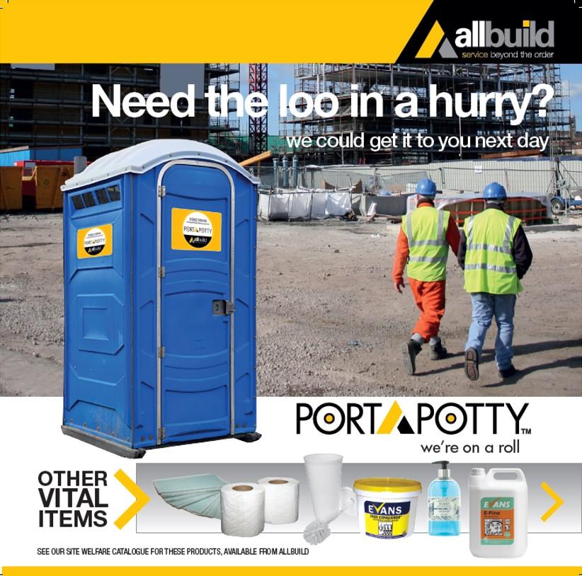Portapotty - portable toilet hire for construction sites