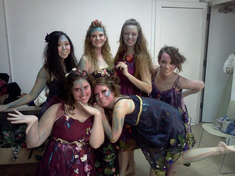 Backstage at  A Midsummer Night's Dream .