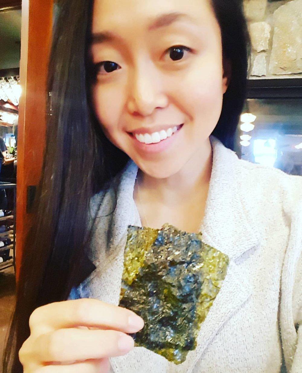 Gim (dried seaweed)on set!