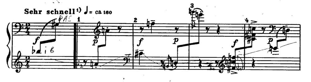 WEBERN — Variationen für Klavier, op. 27, II