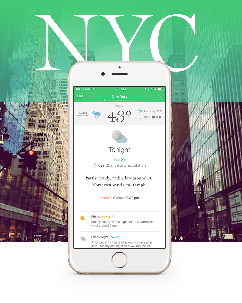 New York, NY   Download Weather Simple in the App Store