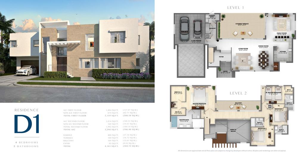 Neovita Doral Residence D1 Floor Plan