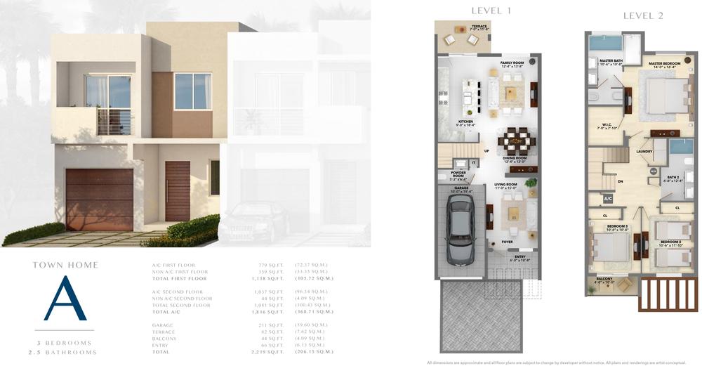 Neovita Doral Town Home A Floor Plan