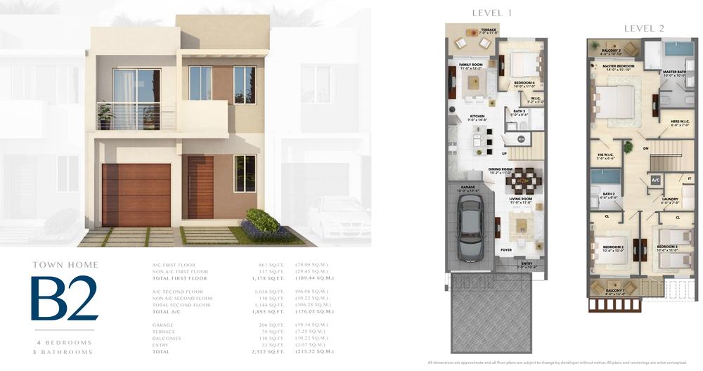Neovita Doral Town Home B2 Floor Plan