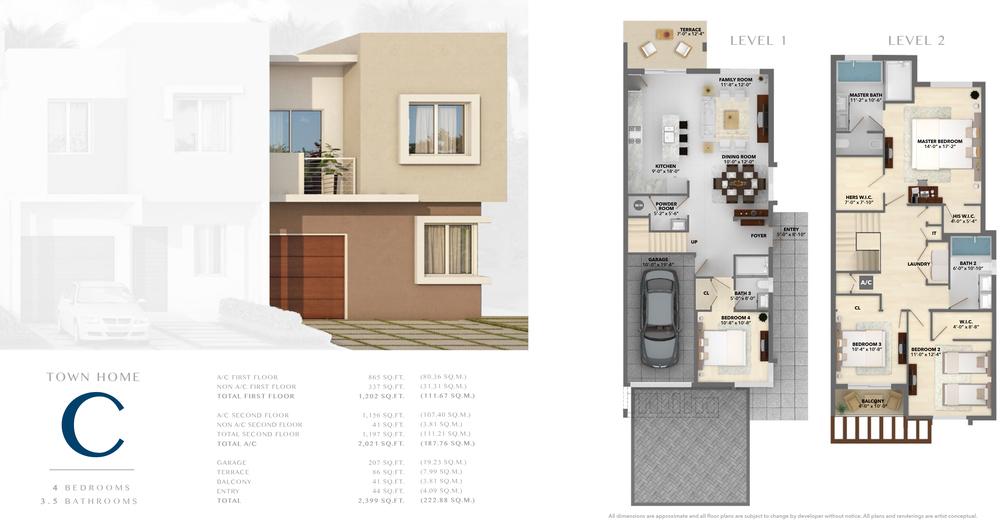 Neovita Doral Town Home C Floor Plan