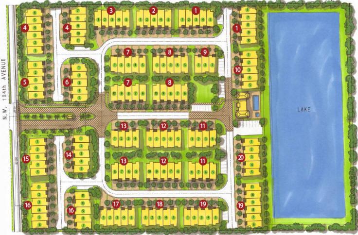 Neovita Doral Town Homes Site Plan