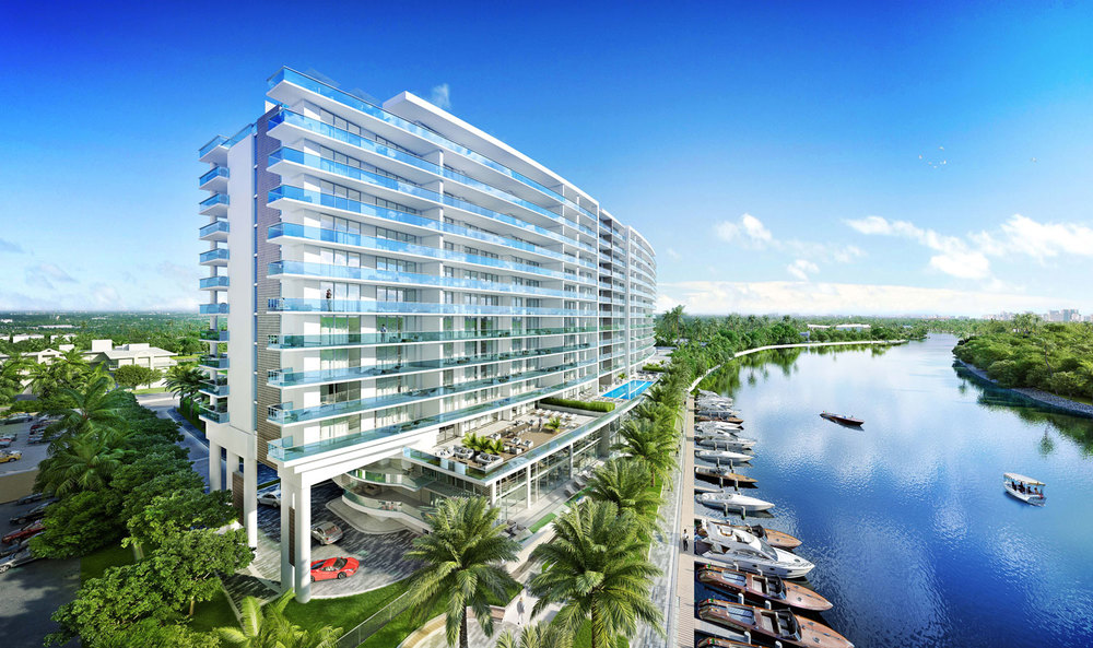Riva Ft.Lauderdale Building Side View