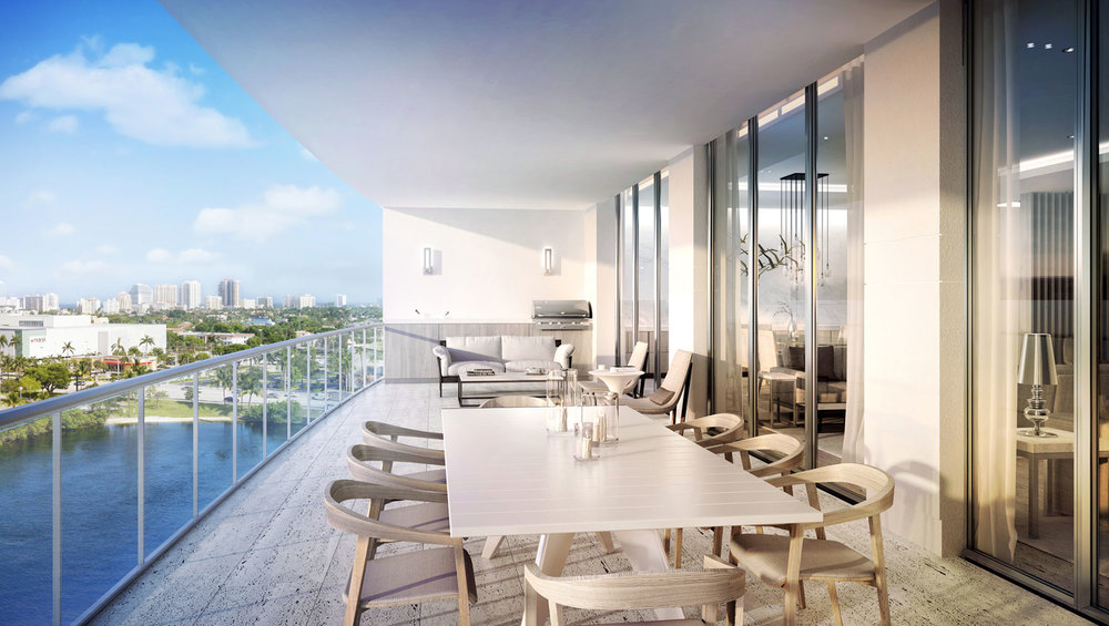 Riva Ft.Lauderdale Terrace to Summer Kitchen View