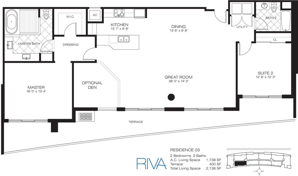 Riva Ft.Lauderdale Condo Residence 3 Floor Plan