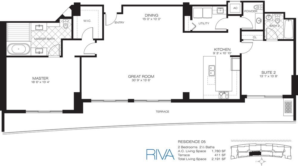 Riva Ft.Lauderdale Condo Residence 5 Floor Plan