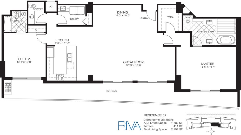 Riva Ft.Lauderdale Condo Residence 7 Floor Plan