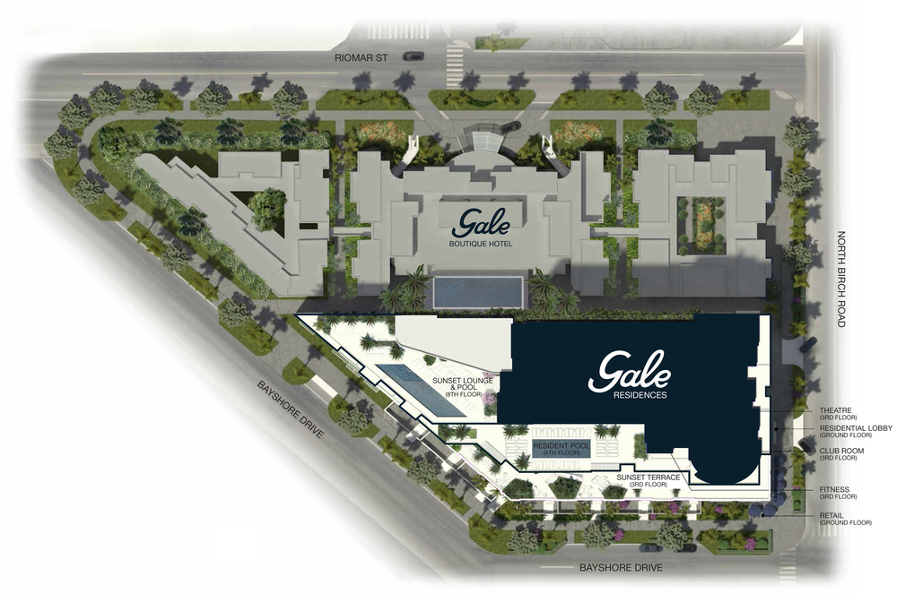 Gale Boutique Hotel & Residences Ft.Lauderdale Site Plan