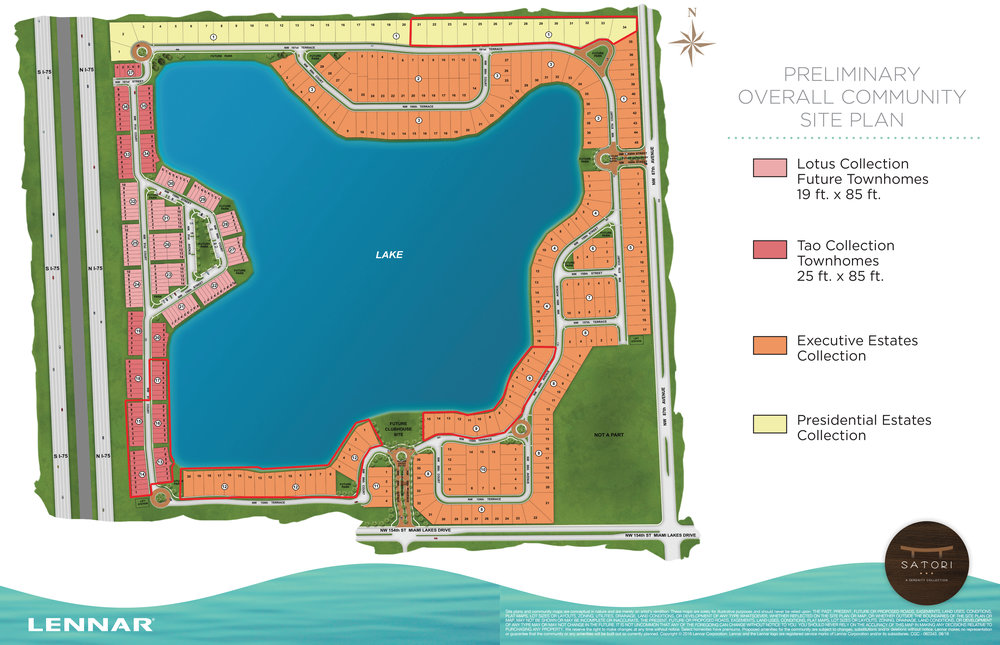 Satori Site Plan (Open For Sale Red Borders Only)
