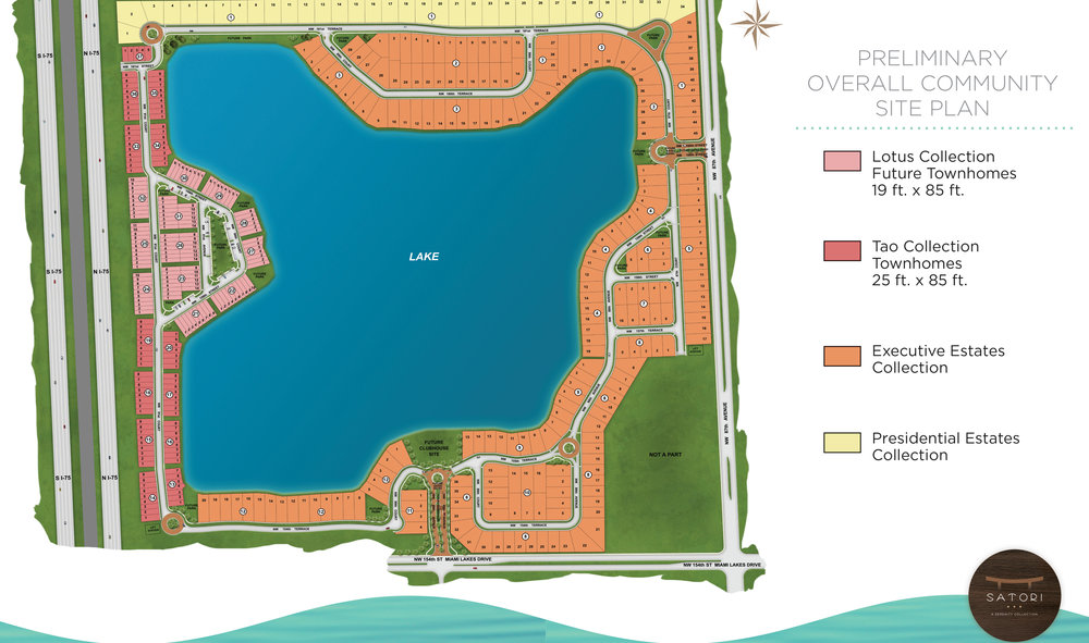 Satori Miami Lakes Site Plan