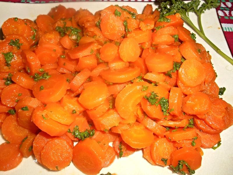 Carottes Vichy (plat végétalien)