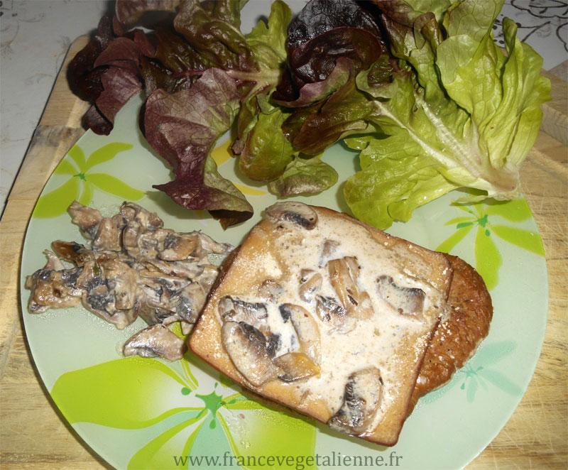 Escalope de seitan à la comtoise (végétalien)