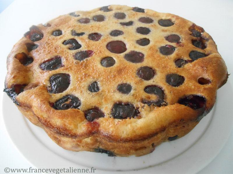 Tartouillat aux cerises (gâteau végétalien)