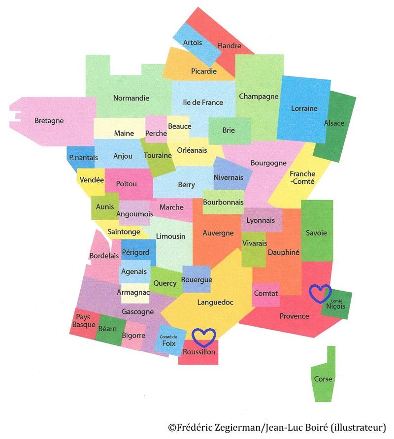 Spécialité de Provence, Comptéde Nice, Languedoc-Roussillon