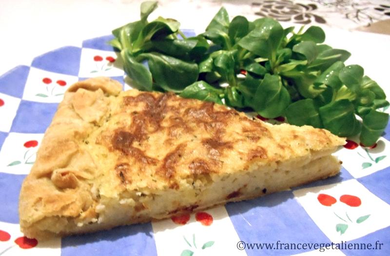 Pétatou (tarte à la purée de pomme de terre) (recette végétalienne)