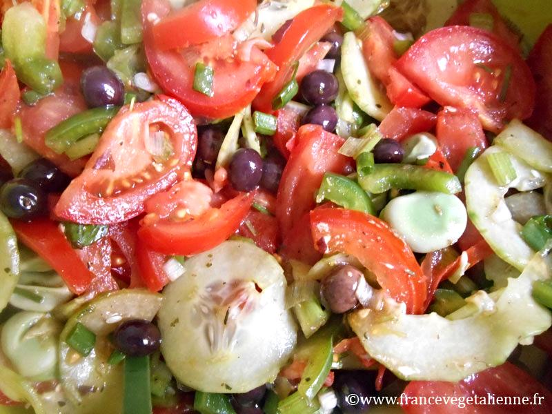 Salade niçoise végé