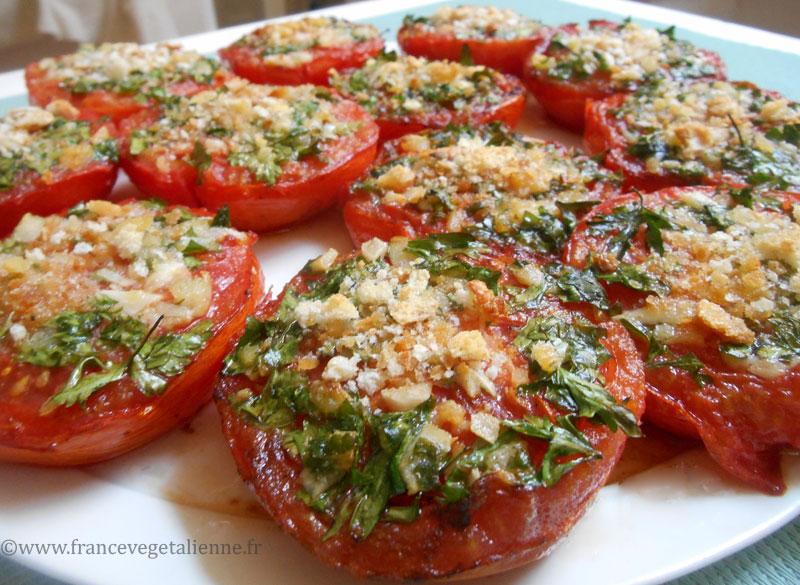 Tomates à la provençale (végétalien)