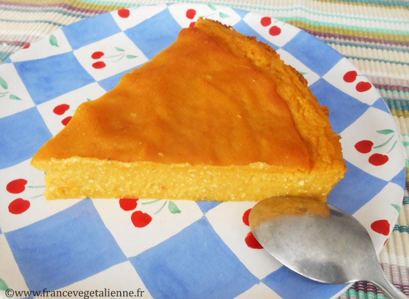 Gâteau de courge végétalien