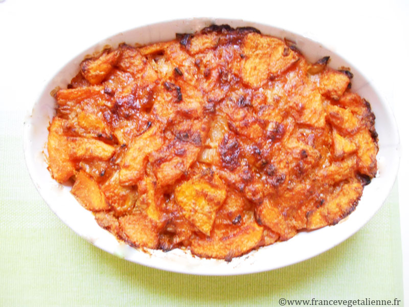 Gratin de courge vegan