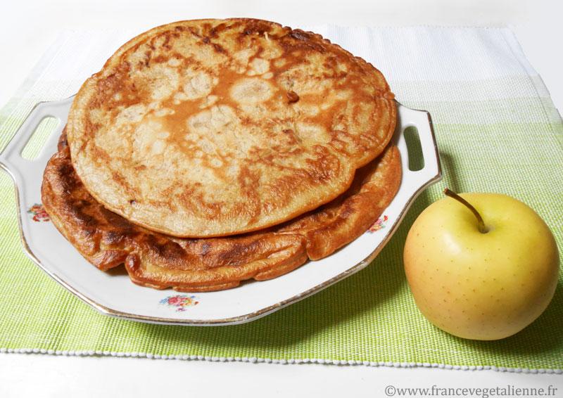 Pescajoune (crêpe aux pommes) (vegan)