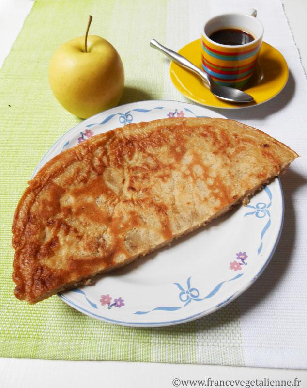 Pescajoune (crêpe aux pommes)végétalien