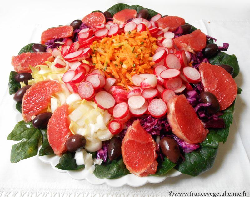 Salade d'hiver (végétalienne)