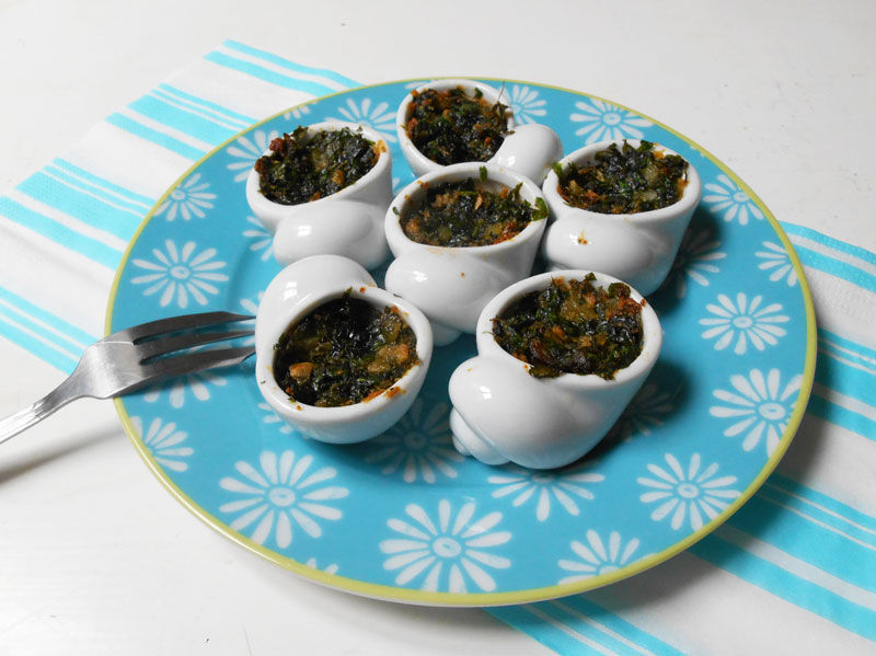 """""""Escargots"""" à la bourguignonne (recette végétarienne)"""