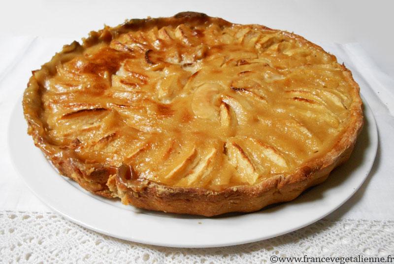 Tarte aux pommes l 39 alsacienne v g talien vegan - Comment couper des pommes pour une tarte ...
