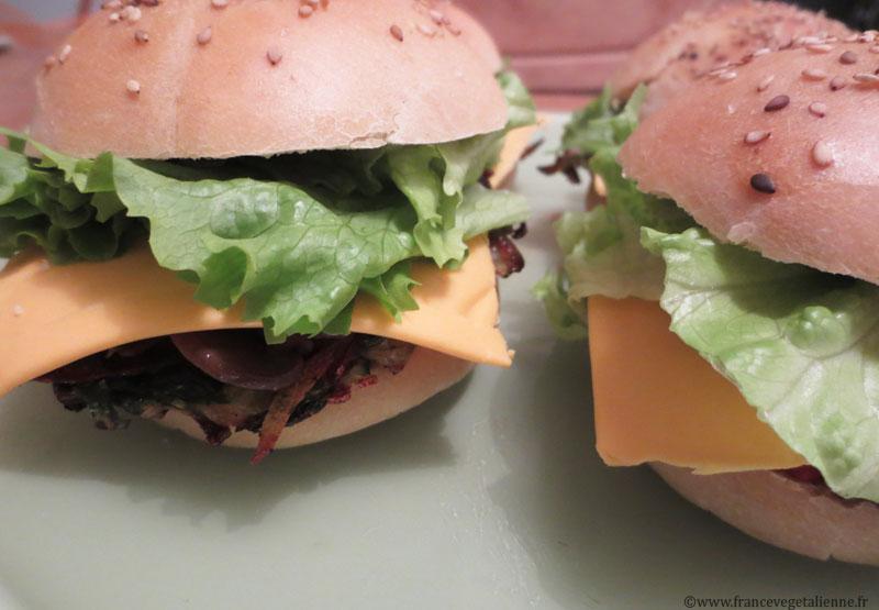 Burger ardéchois vegan