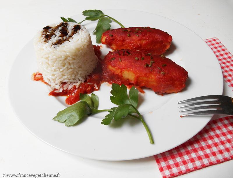 Quenelles lyonnaises à la sauce tomate (recette végane)