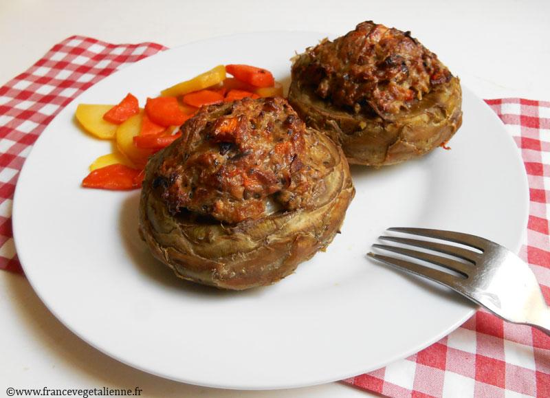 Artichauts farcis (recette végane)