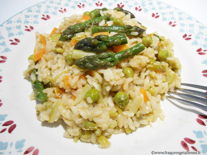Risotto aux asperges (vegan)