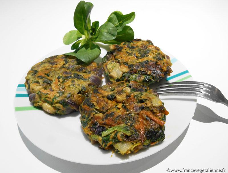 Galettes aux légumes (vegan)