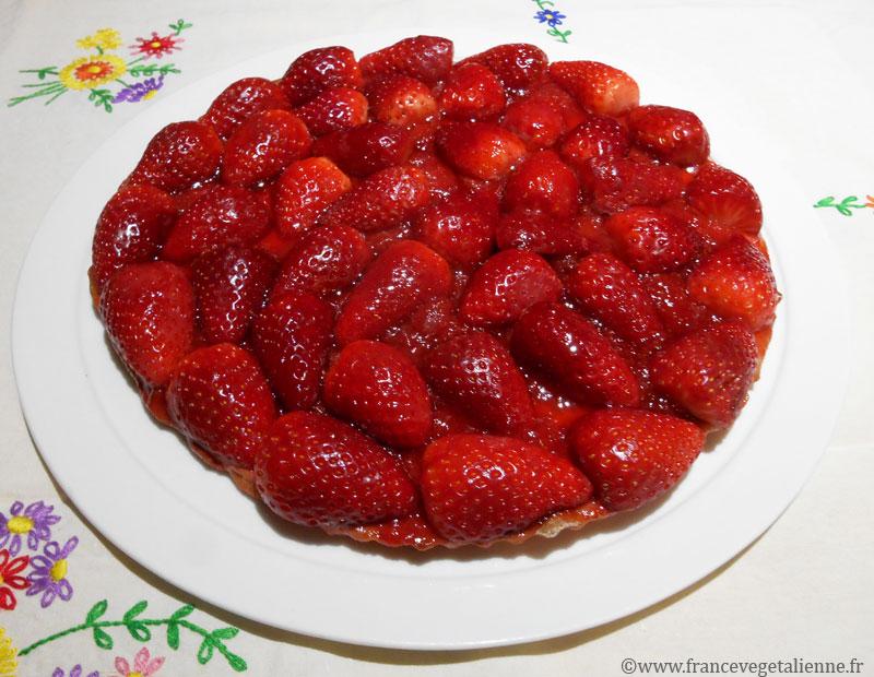 Tarte aux fraises (végane)