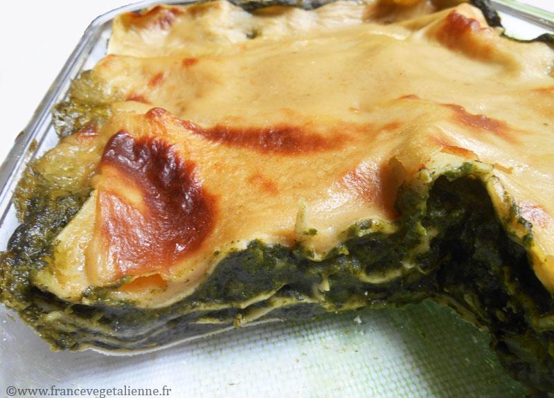 Lasagnes aux épinards (vegan)