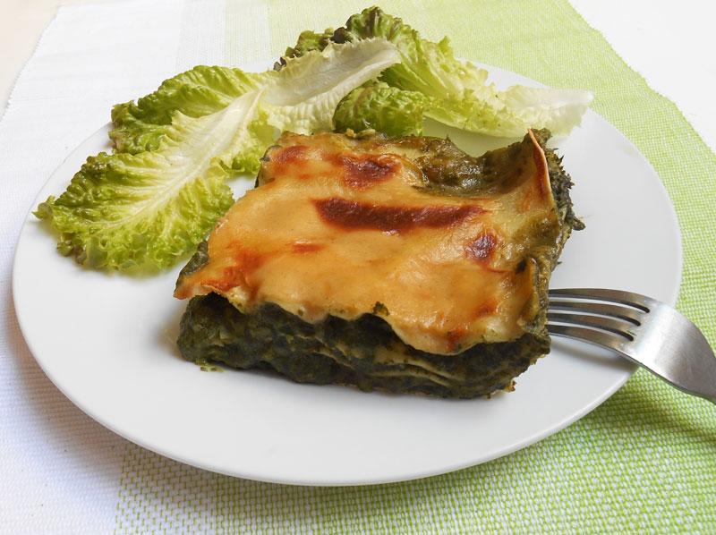 Lasagnes aux épinards (recette végétalienne)