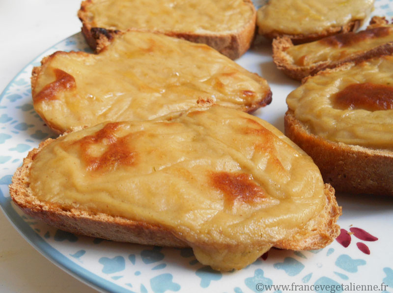 Croûtes au fromage (vegan)